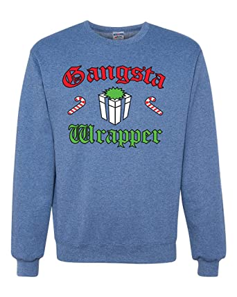 41e62cee Image Unavailable. Image not available for. Color: Gangsta Wrapper Ugly  Christmas Sweater Unisex ...
