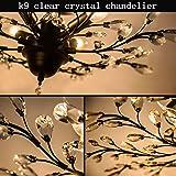 Garwarm 5 Lights Vintage Crystal Chandeliers