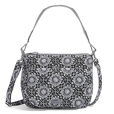 Vera Bradley Carson Shoulder Bag, Signature Cotton, Charcoal Medallion dc16b74987
