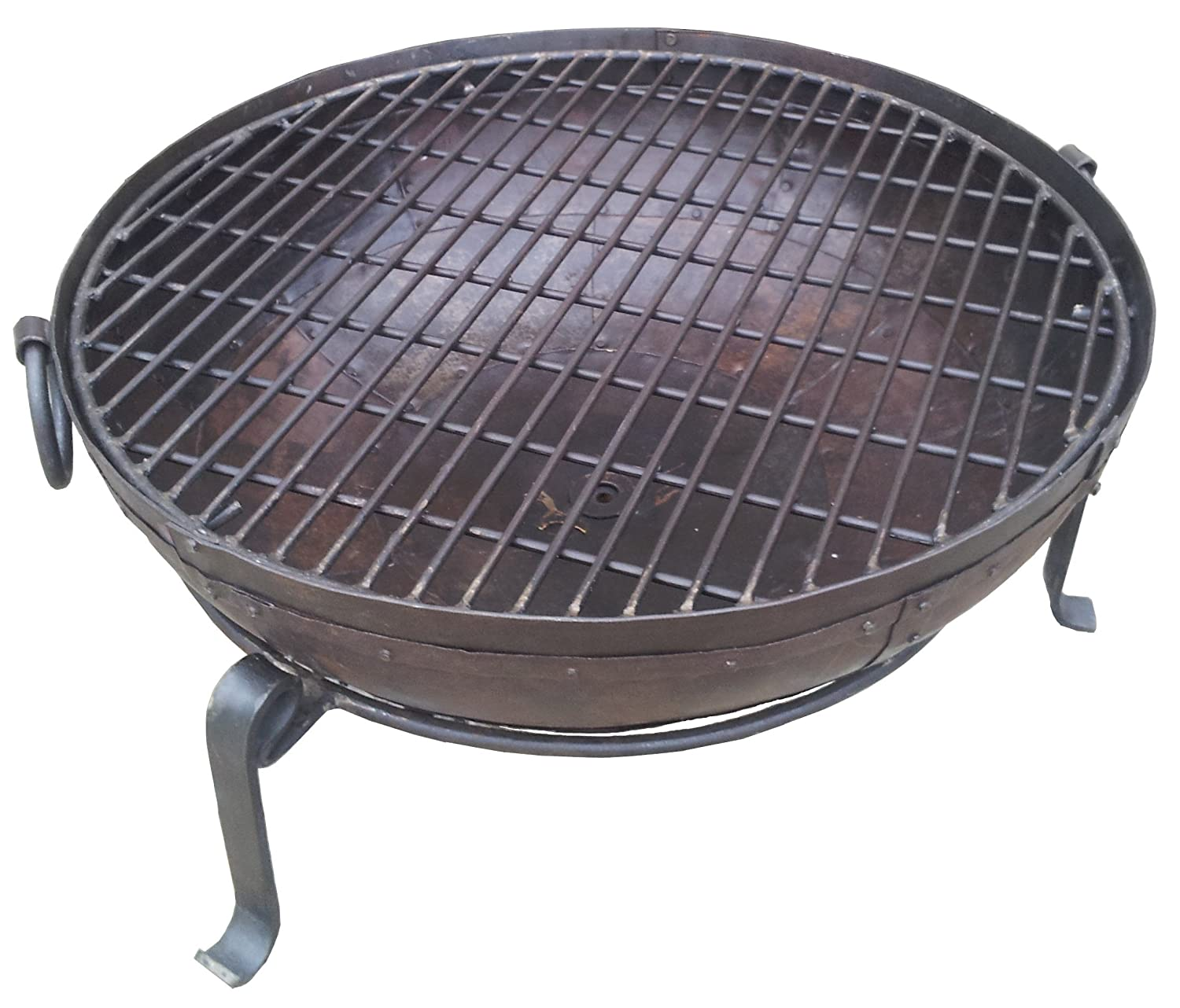 MJD Supplies Indian Fire Bowl Set With COVER (60cm bowl, grill & stand) Kadai Pit