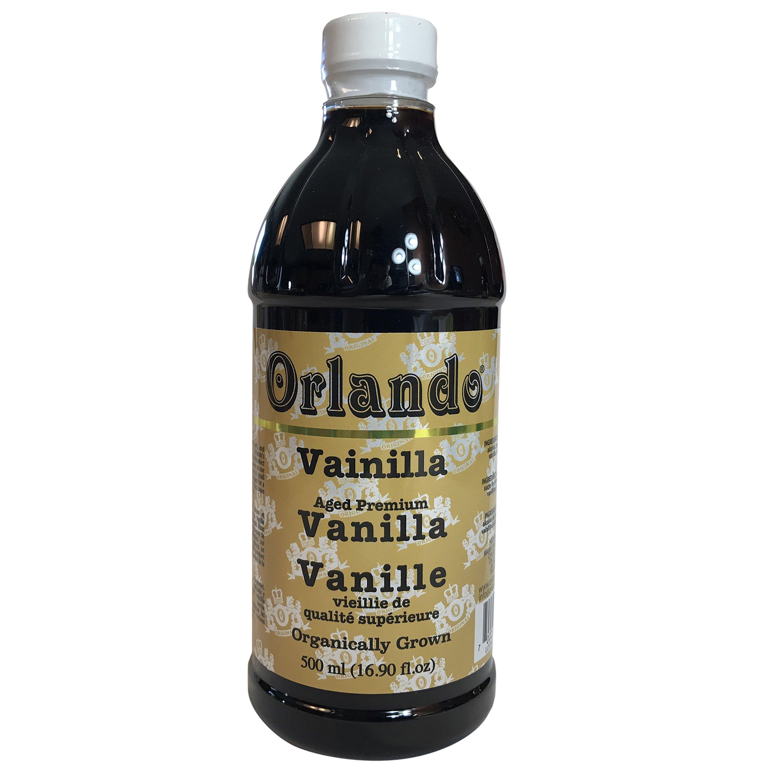 Premium Gourmet Mexican Vanilla (Amber Colored) (16 Fl. Oz.) by Orlando