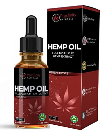 Full Spectrum Hemp Oil Extract for Pain Relief and Anti Anxiety Support -  All Natural Ingredients