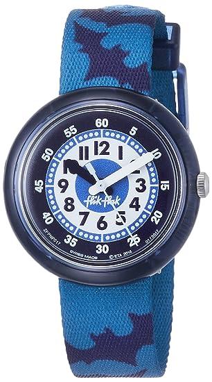 Flik Flak Reloj Analogico para Chicos de Cuarzo con Correa en Tela FPNP017: Amazon.es: Relojes
