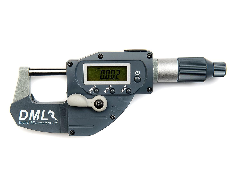 DML 0– 25 mm IP65 Snap Mikrometer 12 Monate Garantie Digital Micrometers Ltd