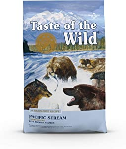 Taste of the Wild with Ancient Grains Ancient Stream Canine Recipe with Smoked Salmon Dry Dog Food for All Life Stages, Vitamins and Antioxidants 5lb
