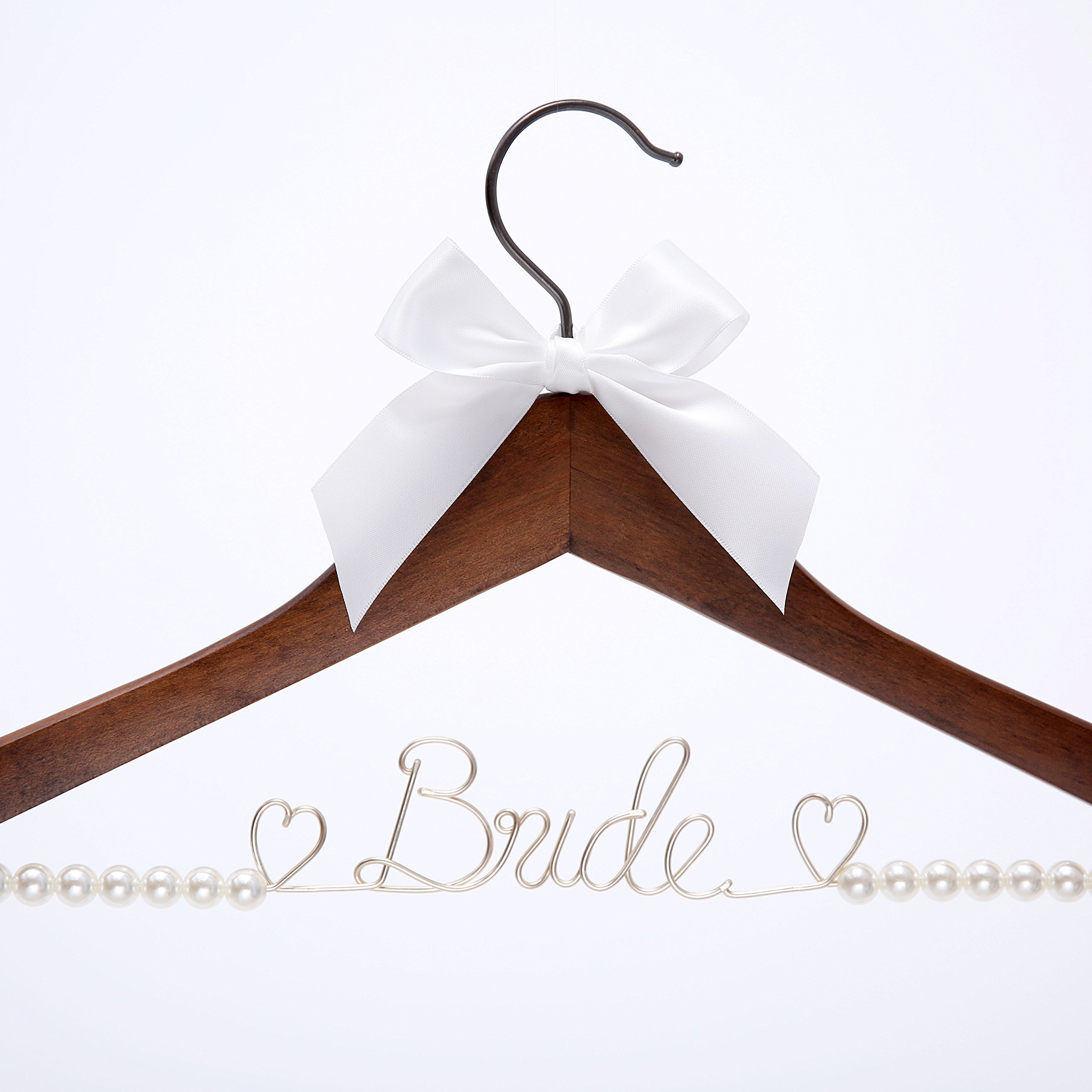 Details about Wedding Dress Hanger Bride Hanger Wire hanger Bridal Gift