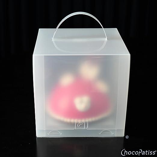 ChocoPatiss - Caja para Tartas de plástico Reutilizable, Plegable ...