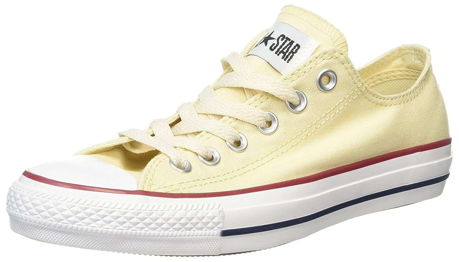 Converse Unisex-Erwachsene Chuck Taylor All Star-OX Low-Top  36.5 EU|Beige (Natural White / Unblecach White)