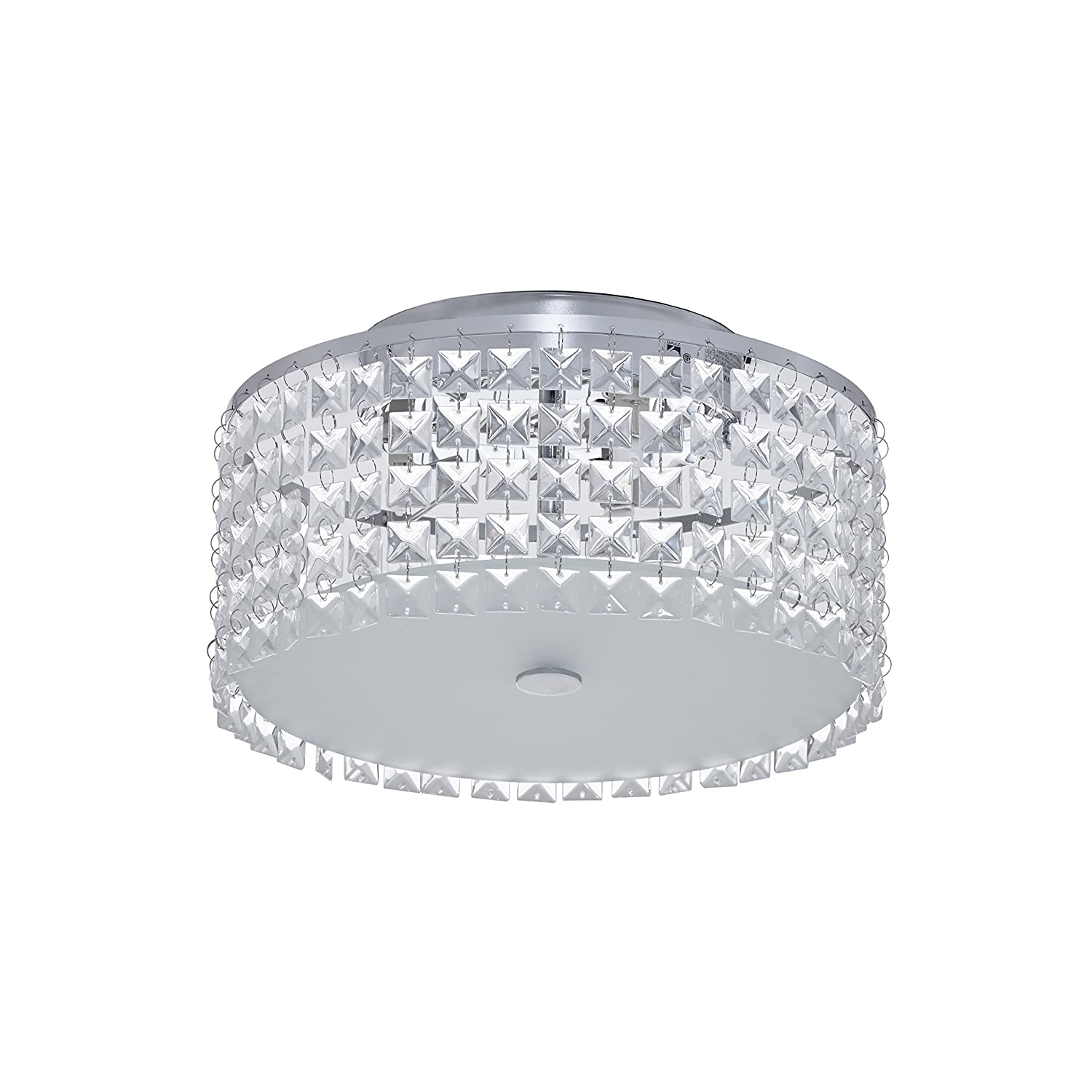 Bazz glam decorative ceiling fixture dimmable easy installation 11 frosted glass