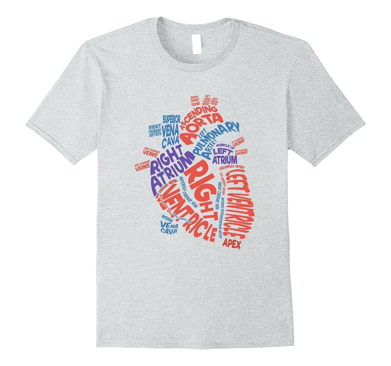 41e4b2b332707 Anatomical Heart Shirt Cardiac Nurse Tshirt Parts of Heart-ANZ ...