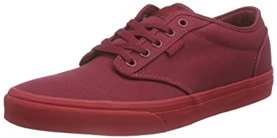 616195d32c Vans Atwood Men Shoes (Check Liner) Burgundy Red Sneakers (8)