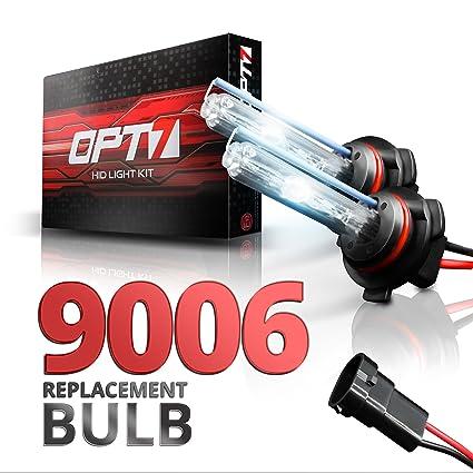 Amazon OPT7 2pc Blitz 9006 Replacement HID Bulbs 10000K Deep Blue Xenon Light Automotive