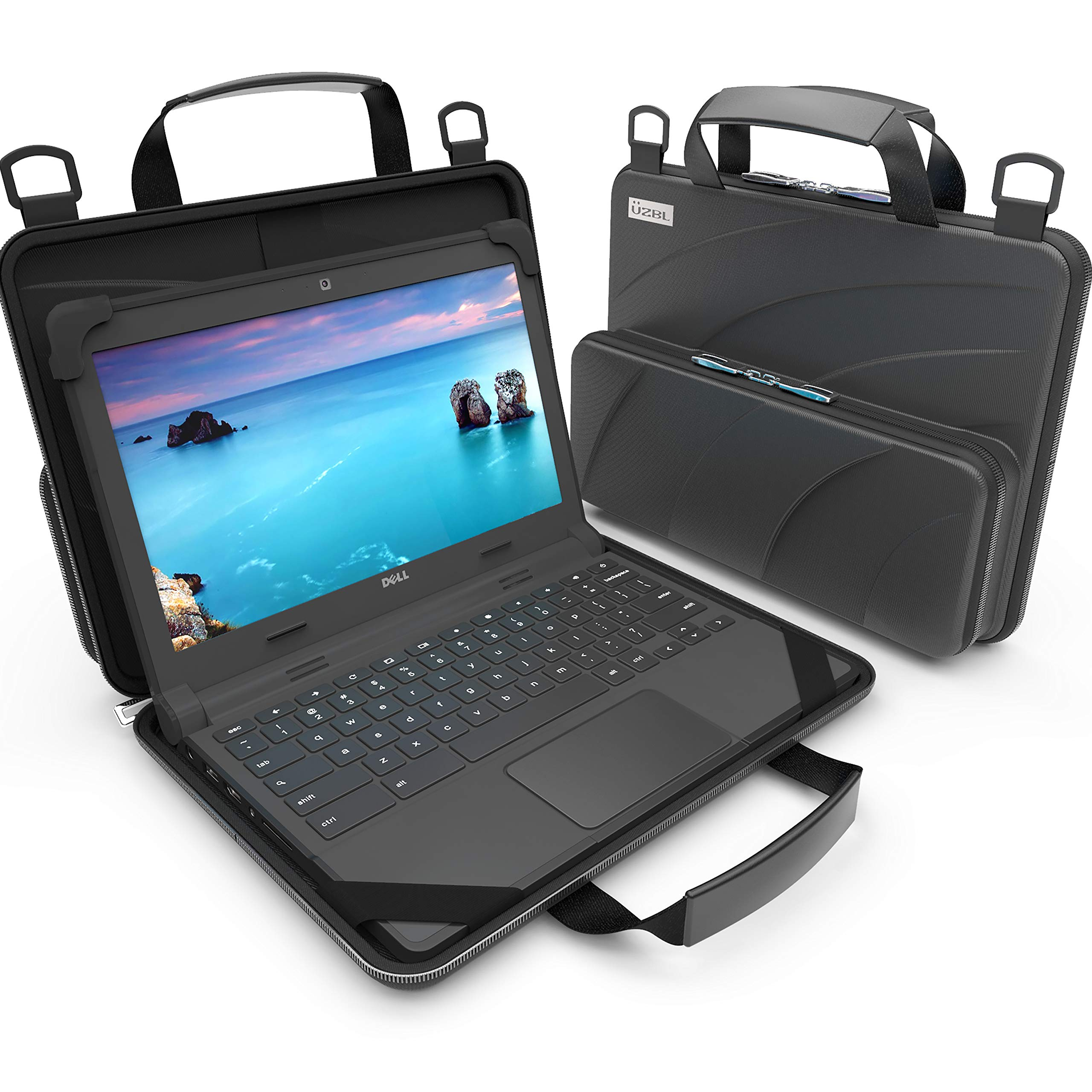 UZBL 11-11.6 inch Work-in Chromebook Laptop Case, Pouch and Shoulder Strap