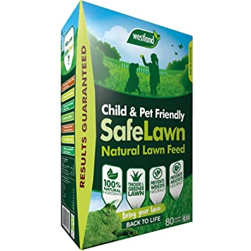 Westland SafeLawn Child and Pet Friendly Natural Lawn Feed 80 m2, 2 8 kg