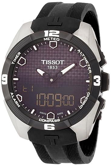 Tissot T0914204705100 - Reloj de Pulsera Hombre, Caucho, Color Negro: Amazon.es: Relojes