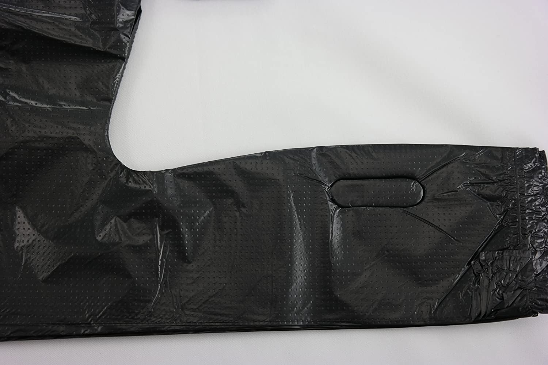 Black t shirt carryout bags 1000 ct - Amazon Com Plastic Bag Black Plain Embossed T Shirt Bag 11 5 X6 5 X21 5 13 Mic 100 Bags Bundles Kitchen Dining