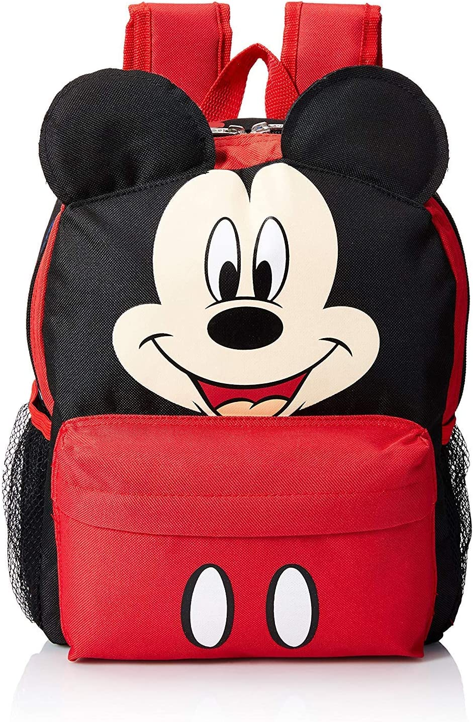 "Disney Mickey Mouse Smiley Face and Ears Kids 12"" Backpack"
