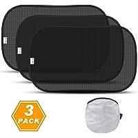 TOPLUS Auto Sonnenschutz Sonnenblenden für Baby,Kinder mit UV Schutz,51 * 31 cm,3 Pack für Seitenscheiben/Autofenster (schwarz)