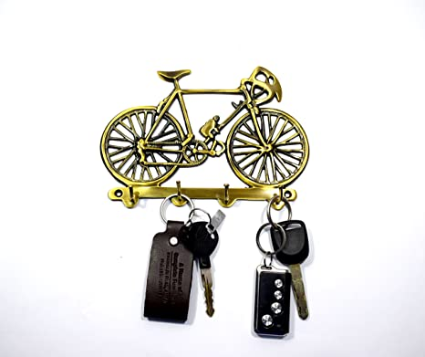 3d2820f3c95 Wigano Antique Finish Brass Made Cycle Key Holder Stand for Home and Office   Amazon.in  Home   Kitchen