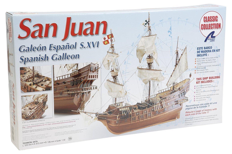 Artesania Latina 18022. Maqueta de barco en madera. Galeon Español San Juan. Escala 1/30 + Multiherramienta 4 en 1: Amazon.es: Juguetes y juegos