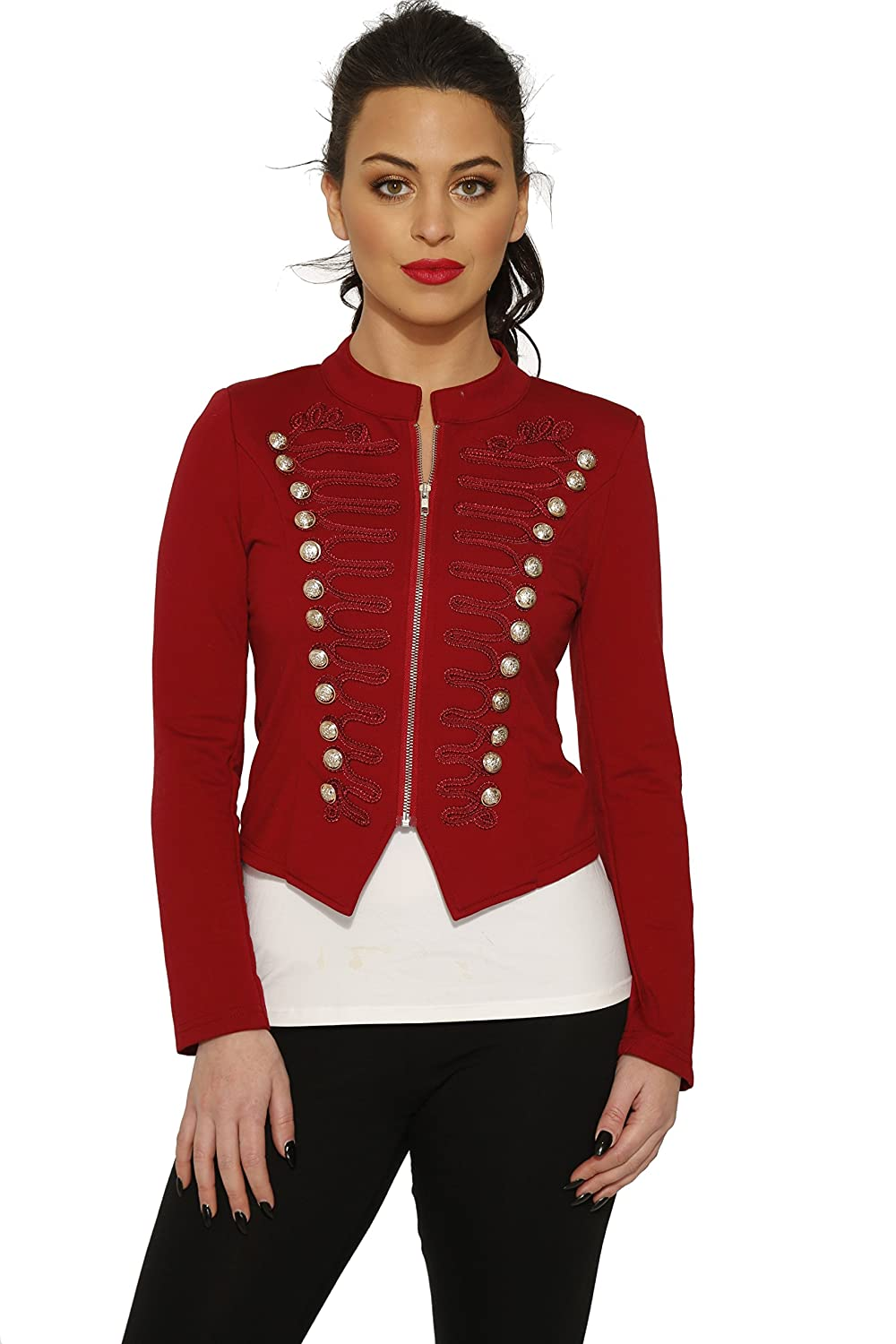 Vintage Burlesque Clothing, Costumes, Outfits Hearts & Roses Red Brigantine Jacket (Shipped from The US & US Sizes) $48.88 AT vintagedancer.com