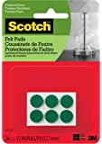 Scotch Felt Pads, Round, Brown, 1-Inch Diameter, 16 Pads/Pack (SP821-NA), green, SP852-NA