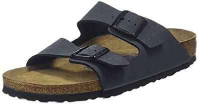 0969b402 Birkenstock 651161 Arizona Leather Sandal, Basalt, 41