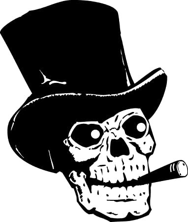 Human Skull Smoking Wall Decal Sticker 2 - Decal Stickers and Mural for  Kids Boys Girls