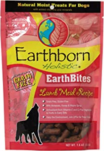 Earthborn Holistic EarthBites Lamb Meal Recipe Grain-Free Moist Treats for Dogs