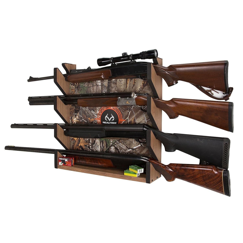 RealTree 39-4004 Camo 4 Gun Wall Storage Rack