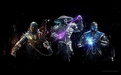 Scorpion Raiden Sub Zero Mortal Combat Games ON FINE Art Paper HD Quality Wallpaper Poster