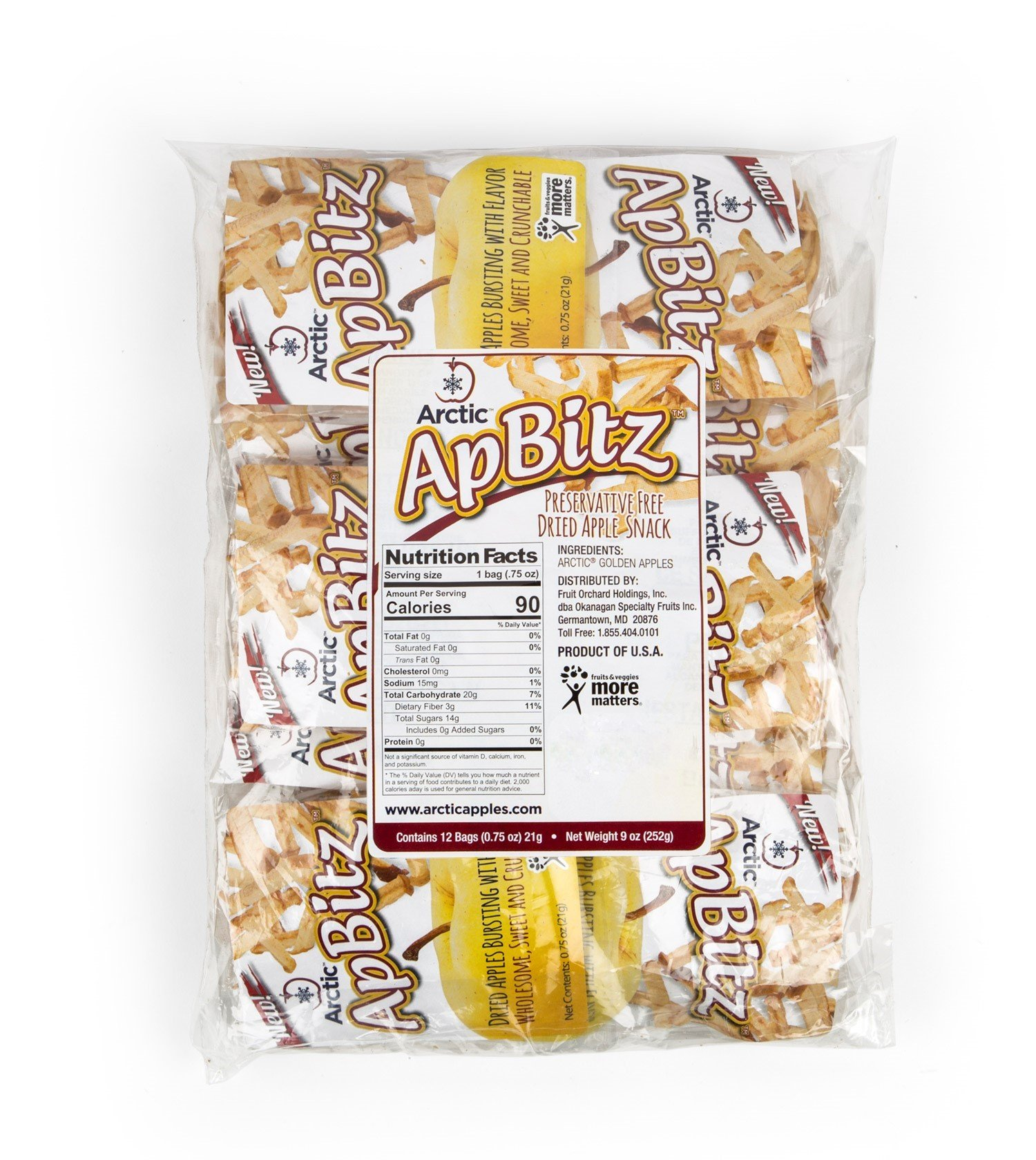 Arctic ApBitz Dried Apple Snacks – 0.75 oz (Pack of 12) – Preservative Free by Arctic® Apples (Image #2)