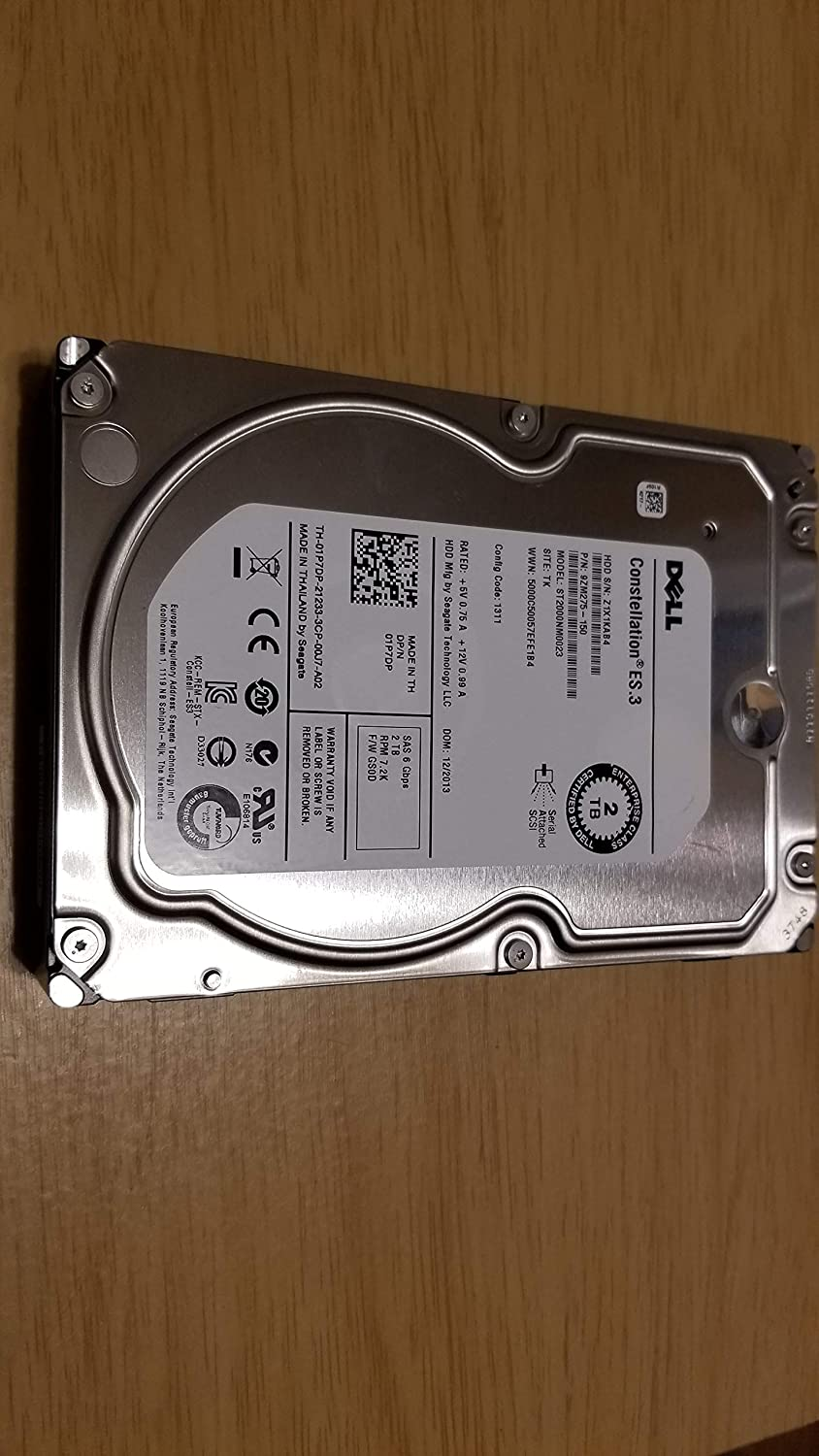 DELL 1P7DP dell 2TB 3.5 7200RPM SAS 6Gb/s Enterpise Internal Hard Drive