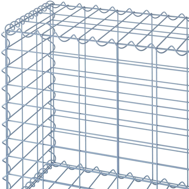 50//50//30cm, Set 4 Filo di Ferro /Ø 4mm Disponibili in Diverse Misure Gabbia Metallici Sassi Muro di Pietra Maglia 10//5cm Gabbione da Giardino