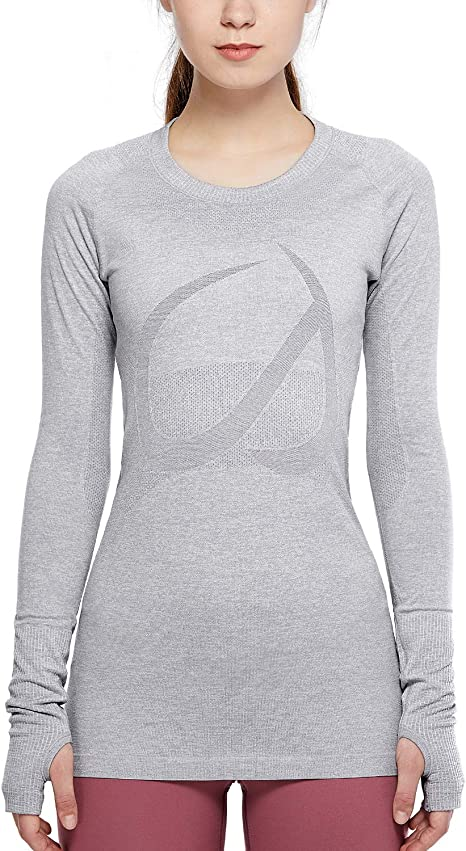 TALLA 44. CRZ YOGA Mujer Ropa Deportiva Sports Casuales Camiseta sin Costura Manga Larga