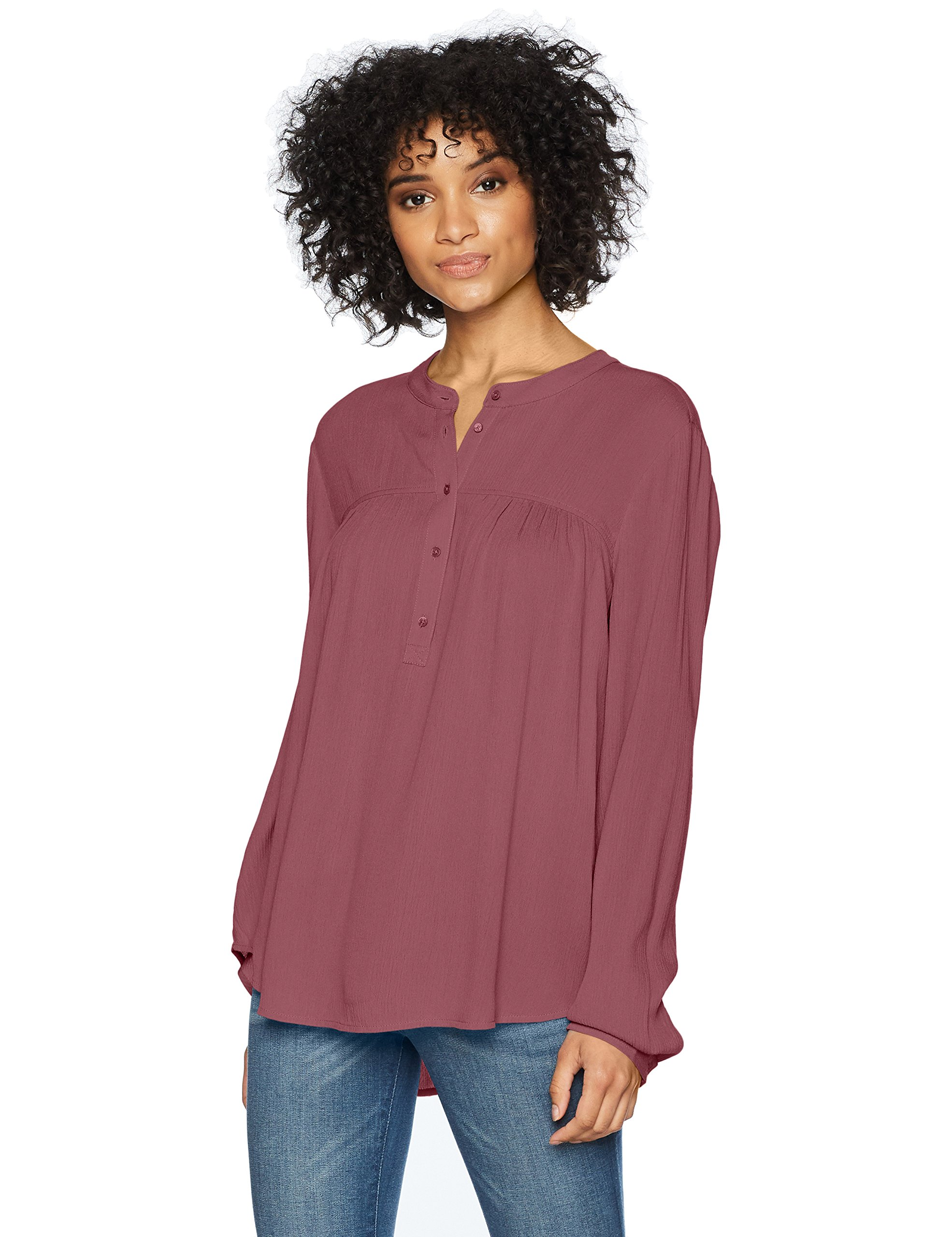 AG Adriano Goldschmied Women's Jess Shirt, Mellow Fig, L
