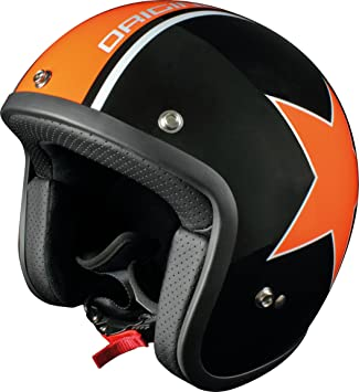 Origine Helmets Primo Astro Casco Jet, Negro/Naranja, M
