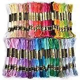 Hommy刺繍糸 50色 8m セット クロスステッチ カラーが豊富できれい! 刺しゅう糸