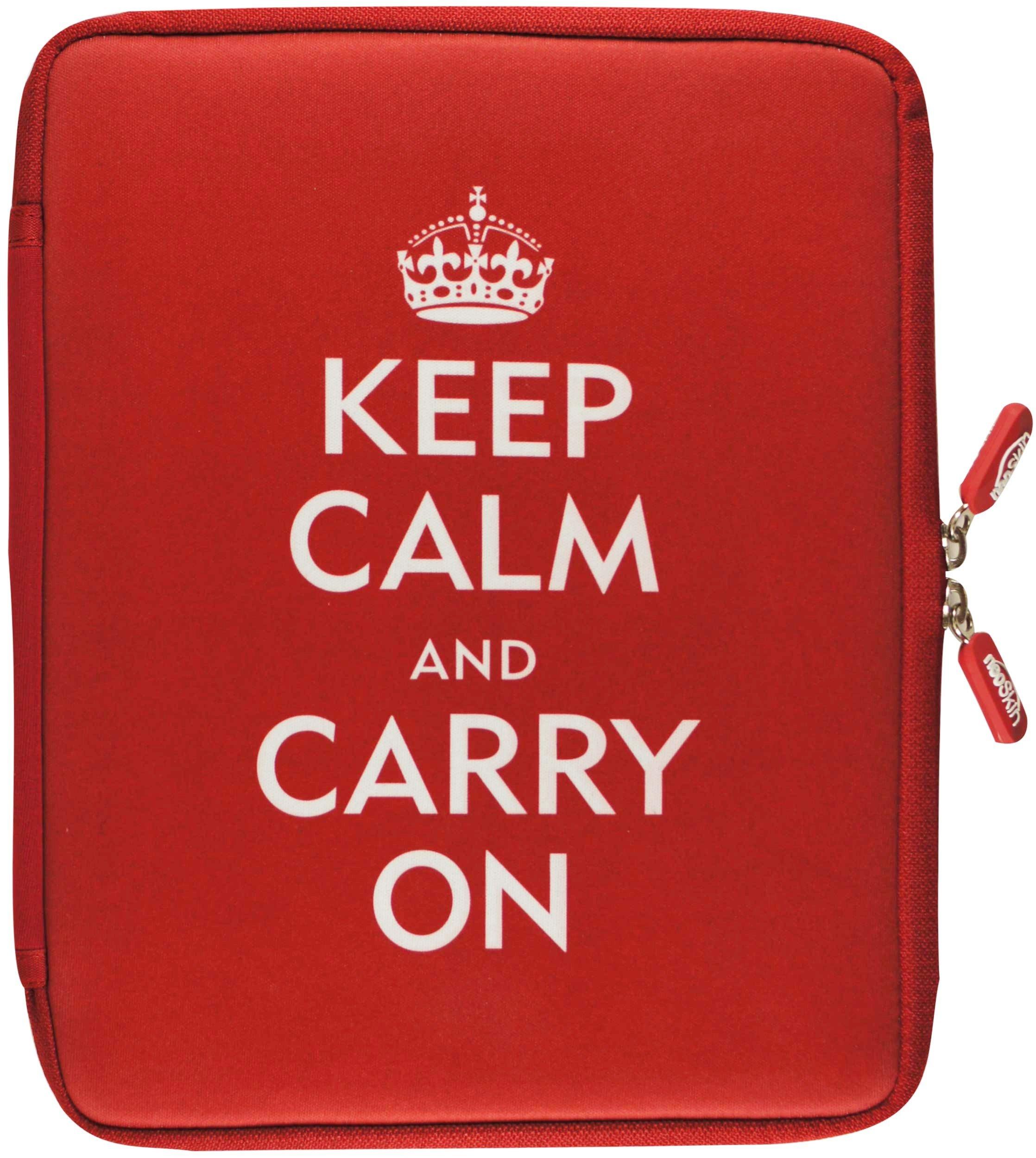 Read Online NeoSkin iPad Zip Sleeve, Keep Calm and Carry On (fits iPad 2 and new iPad) (Neoprene iPad Cover, iPad Case) pdf