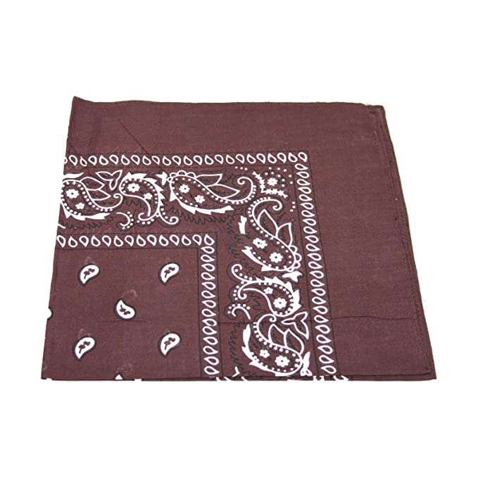 Mens//Womens Bandana Head Scarf Neck Scarves Paisley 100/% COTTON White Mens Bandana Head Scarf UK SELLER