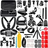 Neewer 58-In-1 Action Camera Accessory Kit for GoPro Hero Session/5 Hero 1 2 3 3+ 4 5 SJ4000 5000 6000 DBPOWER AKASO VicTsing APEMAN WiMiUS Rollei QUMOX Lightdow Campark And Sony Sports Dv and more