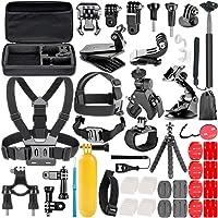 Neewer 10084962 - Kit de accesorios 58-in-1 para GoPro Hero 4/5 Sesión Hero 1/2/3/4/5/7, SJ4000/5000, Negro