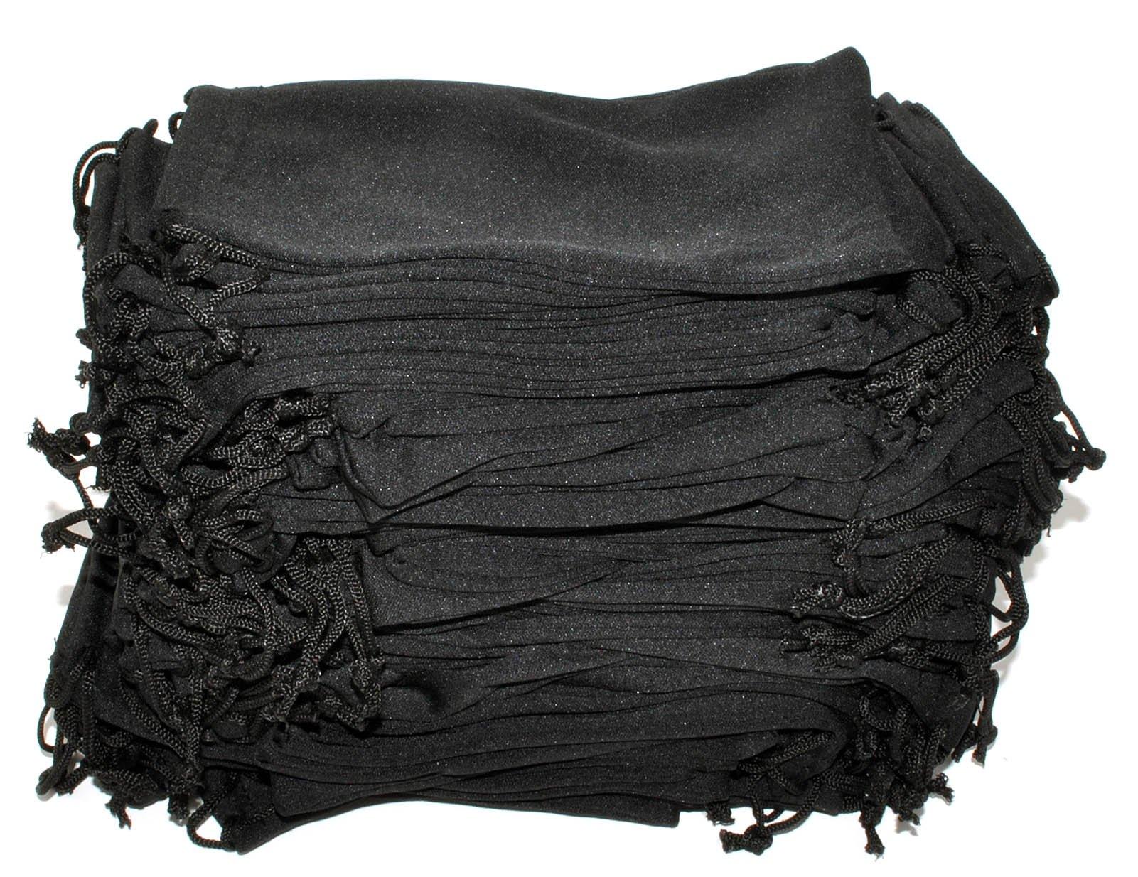 Wholesale Glasses Pouches Cleaning Case Bag Black 100 PCS by OWL