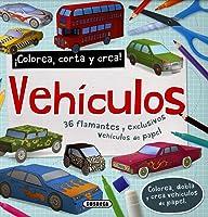 Vehículos (Colorea Corta Y