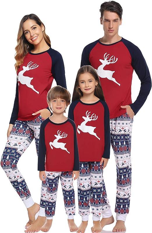 Set pigiama invernali natale famiglia hawiton aMB00427_K_2