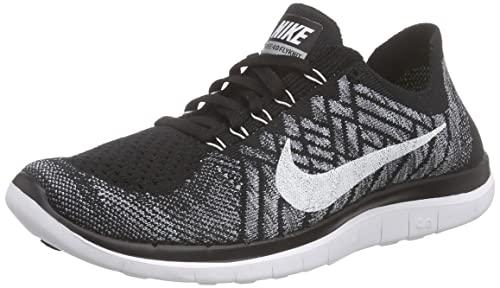 cheap for discount 3cfdb 3bf15 Nike Mens Free 4.0 Flyknit Running Shoes ,Black,9.5 D(M) US