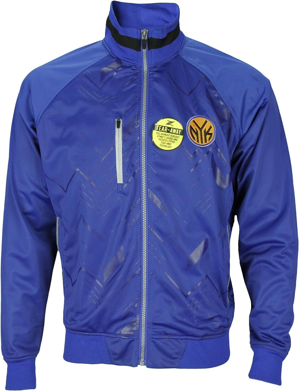 New York Knicks NBA Mens Zig Zag Track Jacket, Blue