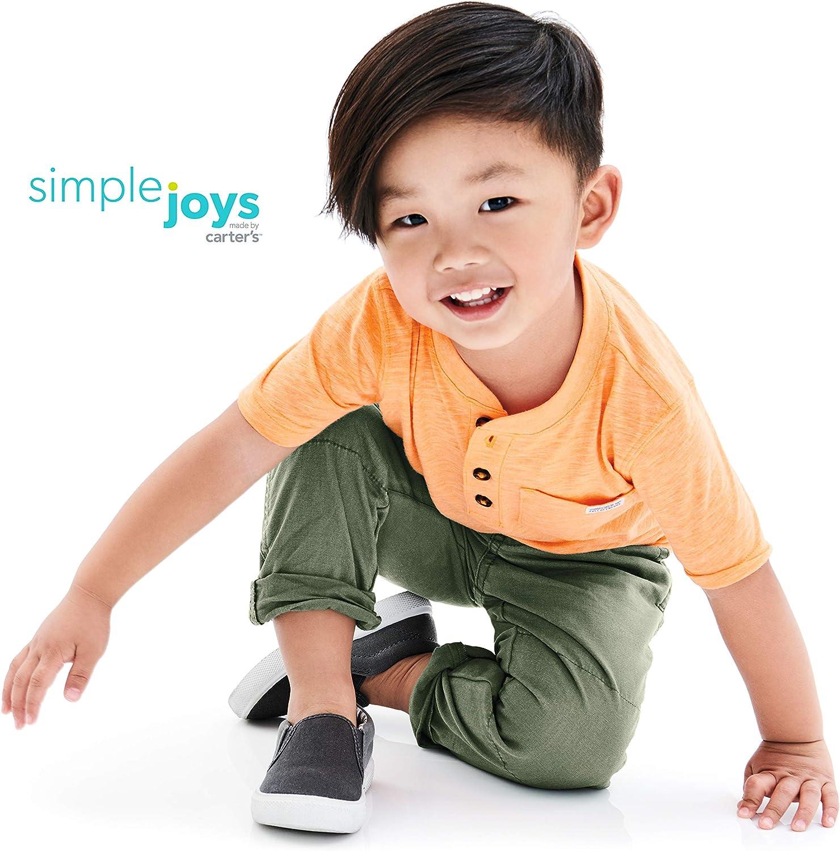 Simple Joys by Carters Toddler Boys 3-Pack Short-Sleeve Pocket Henley Tee Shirt