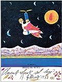 Artopweb Pannelli Decorativi Musante Amanti Volanti sul Lago Quadro, Legno, Multicolore, 60x1.8x80 cm