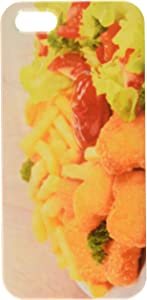 chicken nuggets,french fries and salad cell phone cover case iPhone5